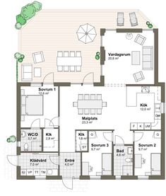 Ölmanäs Future House, My House, House Drawing, My Dream Home, Building A House, House Plans, Sweet Home, New Homes, Villa