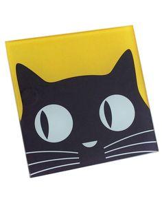 Naked Decor Set Of 4 Black Cat Coasters Small Canvas Paintings, Easy Canvas Art, Small Canvas Art, Cute Paintings, Kids Canvas, Easy Canvas Painting, Mini Canvas Art, Diy Painting, Trippy Painting
