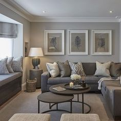 CONTEMPORARY LIVING ROOM   Grey Living Room   bocadolobo.com/ #contemporarydesign #contemporarydecor: . A touch of glam would make it perfect!