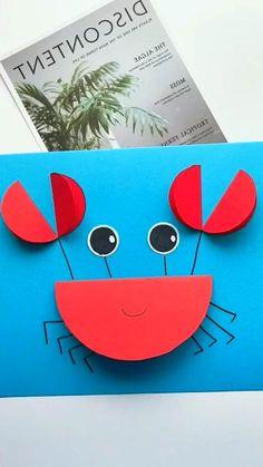 Animal Crafts For Kids, Paper Crafts For Kids, Easy Crafts For Kids, Toddler Crafts, Preschool Crafts, Fun Crafts, Art For Kids, Kids Diy, Diy Paper