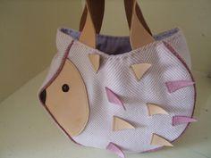 Small Hedgehog bag / Kids bag/ Lunch bag. £16.00, via Etsy.
