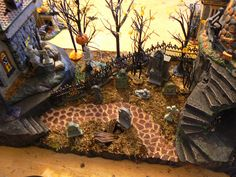 tombstones painted miniature tabletop furniture dungeon decor dwarven forge dd warhammer pathfinder halloween village - Halloween Display Ideas