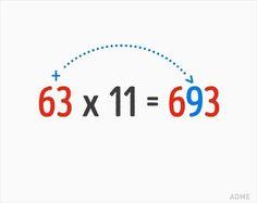 9 Ingenious Math Tricks We Weren't Taught at School - Mathe Ideen 2020 Math For Kids, Fun Math, Math Activities, Simple Math, Basic Math, Cool Math Tricks, Maths Tricks, Math Charts, Math Magic
