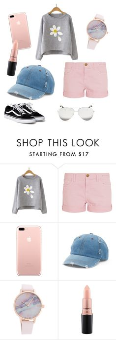 """""""pink shorts!"""" by egmcbroom on Polyvore featuring Current/Elliott, Mudd, MAC Cosmetics and Victoria Beckham"""