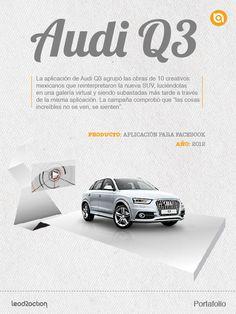 Audi Q3. Creamos una aplicación que agrupó las obras de 10 creativos mexicanos que reinterpretaron la nueva SUV.