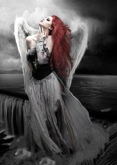 The Sound of Water - by BvandenBerg dark goth gothic angel