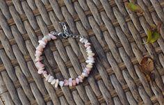 Pink Opal Stone Bracelet ~ Natural Stones ~ Rose Pink Semi Precious Stones ~ Bohemian Style ~ Healing Chakra Stone ~ Boho Pink ~ Unique Gift by AudacityWear on Etsy