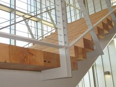 Reclaimed Douglas Fir treads and landings Interior Staircase, Reclaimed Lumber, Stair Treads, Douglas Fir, Barn Wood, Countertops, Stairs, Interior Design, Gallery