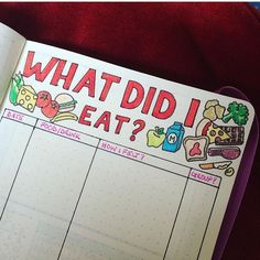 @doodledaydarlings I love this idea of a food tracker! Such a great idea if you have an unknown food allergy or just want to see what you are eating! #bujoinspire