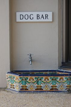 Outside dog drinking area underneath the spigot-Mexican tiles please!!!