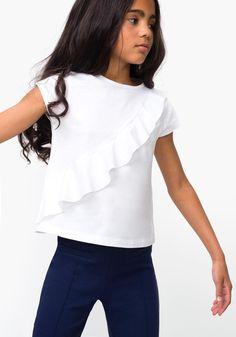 ac9f5ca9ae Comprar Camiseta lisa con volante TEX. ¡Aprovéchate de nuestros precios y  encuentra las mejores OFERTAS en tu tienda online de Moda!