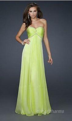 A-Line Chiffon Sweetheart Long Dress Charm89207