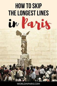 How to skip the longest lines in Paris? Best tips European Travel Tips, Paris Travel Guide, Travel Guides, Paris Paris, Paris France, Montmartre Paris, France Travel, Travel Europe, Travel Destinations