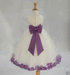 Ivory Flower Girl Dress Pageant Wedding Bridesmaid Dance Party 12 18M 2 4 6 8 10 | eBay