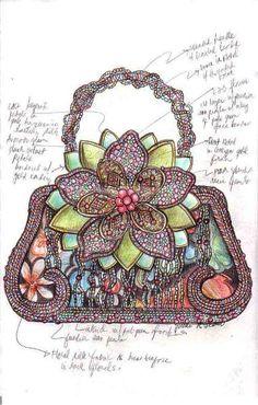 Evening bag sketch