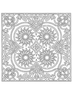 Difficult Mandala Coloring Pages | Mandala 72 - Mandalas for EXPERTS