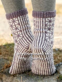 носки вязаные фото