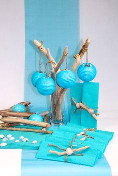 Decoration mariage bleu blanc mariage bleue fleurs - Decoration bleu turquoise ...