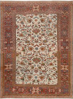Antique Sultanabad Persian Rug , Country of Origin / Rug Type: Persian Rug, Circa Date: 1900 8 ft 2 in x 10 ft 6 in (2.49 m x 3.2 m)