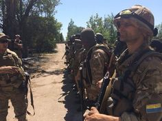 Ukrainian soldiers control Dokuchaevsk and get rid of terrorists there. Right now they get ready to clean Shahtarsk of terrorists.