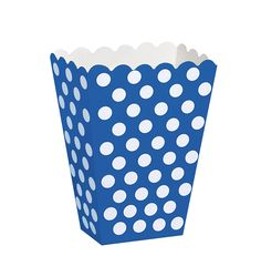 Polka Dot Popcorn Treat Boxes, Royal Blue, 8 Count >>> You can get more details here : Wrapping Ideas