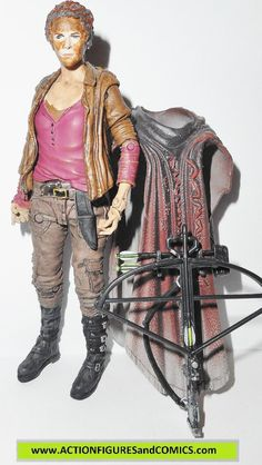 Todd McFarlane toys action figures for sale to buy AMC's THE WALKING DEAD 2013 CAROL in Zombie disguise Includes: crossbow, removable zombie stained cloak figure size: approx. 5 inches tall condition:
