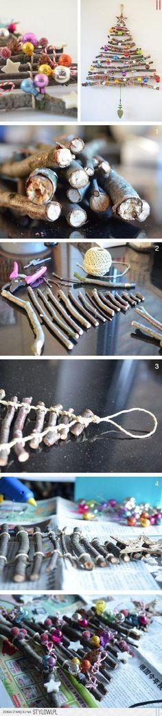 Küçük Odun Parçalarından Sarkaç Süs Yapmak