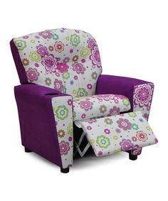 Another great find on #zulily! Violet Secret Garden Spring Mixy Kid's Recliner #zulilyfinds