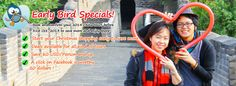 Early Bird Specials for 2014 China Tours, save up to 10%!