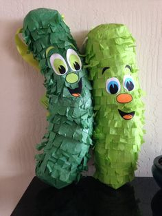 Two Green Pickle Piñatas!