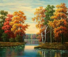 """Framed Online Art Buy Paintings Reproduction Romantic Landscape Painting, Size: 36"""" x 24"""", $118. Url: http://www.oilpaintingshops.com/framed-online-art-buy-paintings-reproduction-romantic-landscape-painting-2161.html"""