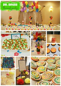 Party Ideas from our Dr. Seuss themed Baby Shower