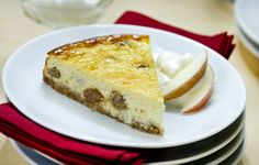 Apple-raisins cheesecake