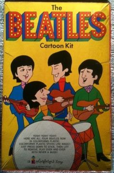 COLORFORMS: 1966 The Beatles Cartoon Kit #Vintage #Toys