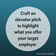 Do you have an elevator pitch? #CareerChangers