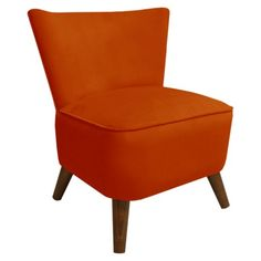 Mango Retro Armless Chair Velvet (Made in USA)  No way!  Furniture from a big box store made in America!  Get out!  And looks good too.