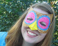 Activitiy table  for 1st birthday- DIY Owl mask