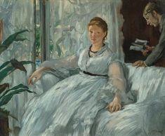 La lecture, par Édouard Manet, Suzanna Manet-Leenhoff en haar zoon Leon 1868
