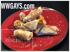 In this video we show you how we make our low point spring rolls! You get two for 1 point! Very easy and quick to make and so versatile because you can chang. Veggie Spring Rolls, Layered Taco Dip, Spring Roll Wrappers, Spicy Cauliflower, Wonton Recipes, Appetizer Dips, Recipe Today, Clean Eating, Good Food