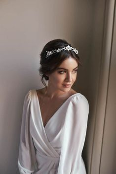 The Romantic Secret Garden Collection by Tania Maras Bridal - Bridal Musings - Beauty Headpiece Wedding, Wedding Veils, Bridal Headpieces, Bridal Gowns, Hair Wedding, Dress Wedding, Boho Headpiece, Bride Tiara, Modest Wedding Gowns
