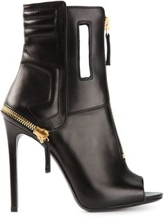 Gianmarco Lorenzi open toe ankle boots