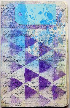 "triangoli cover by mmarlasinger - Using the Balzer Designs ""Triangle"" stencil!"
