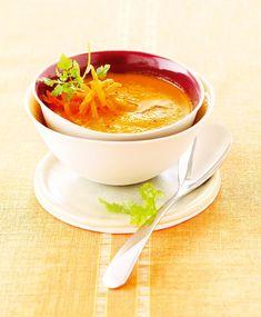 Velouté de carottes et panais au curcuma