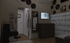Music Room | Studio Kairos - Bed & Breakfast, Zagreb, Croatia