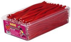 Haribo Balla Stixx Strawberry Tub -Gummi Candy- Sweets from Germany for sale online Gourmet Recipes, Snack Recipes, Gum Flavors, Cool Fidget Toys, Fruit Gums, Junk Food Snacks, Kids Room Wallpaper, Strawberry Fruit, Candy Buffet