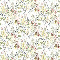 Tapeten und Uhren Tapete mit Blumen FLORA bunt von Sandberg