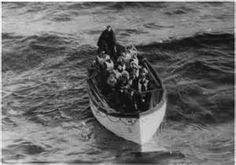 Titanic lifeboat with survivors