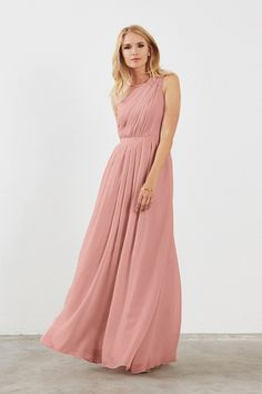 Shop Weddington Way Bridesmaid Dress - Savannah in Poly Chiffon at Weddington Way. Find the perfect made-to-order bridesmaid dresses for your bridal party in your favorite color, style and fabric at Weddington Way.