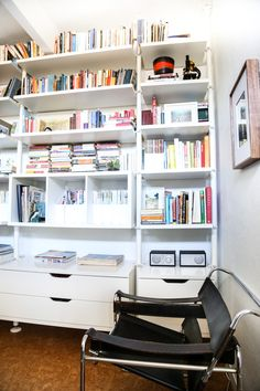 Ikea Hack: Office Bookshelves - Hither and Thither