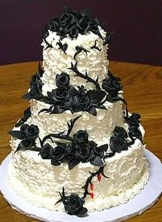 Gothic Wedding Ideas and Inspirations for a Gothic themed Wedding- could do the roses in red